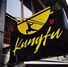 Enseigne Drapeau Kung Fu