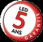 GARANTIE 5 ANS LED