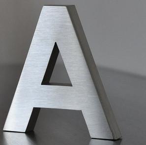lettre aluminium brossé