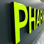 Enseigne 3D pharmacie