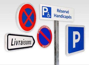Panneau de parking norme 3M réflechissant
