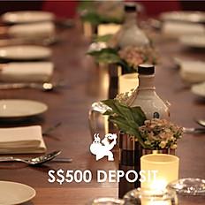 S$500 Deposit
