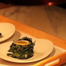 Spinaci Olio e Limone (Sauteed spinach)