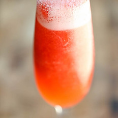 Strawberry and ginger bellini