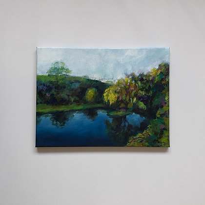 Reflections in the Otways _ 30x40cm
