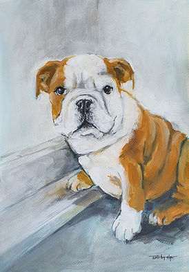art-by-olga_painting of Charlie the dog.