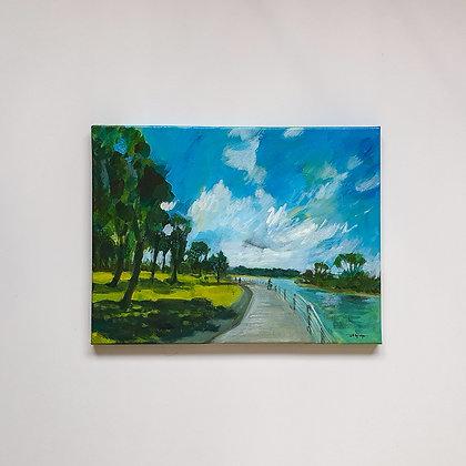 A walk in Elwood park _30x40cm