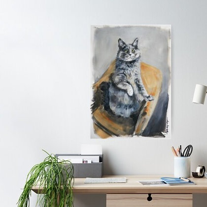 Belarus the cat printed for your wall