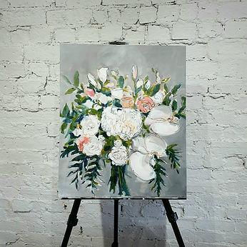 weddingdaypainter flowers wedding bouque