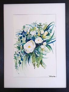art by olga watercolour flowers painting