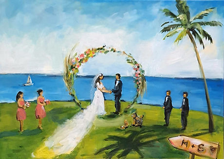 Wedding Day Painter Olga_ beach wedding