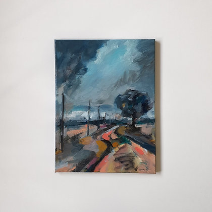 A path in the Yarra Valley _ 30x40cm