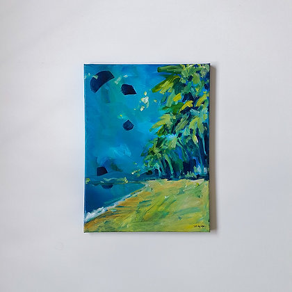 That tropical beach _ 30x40cm