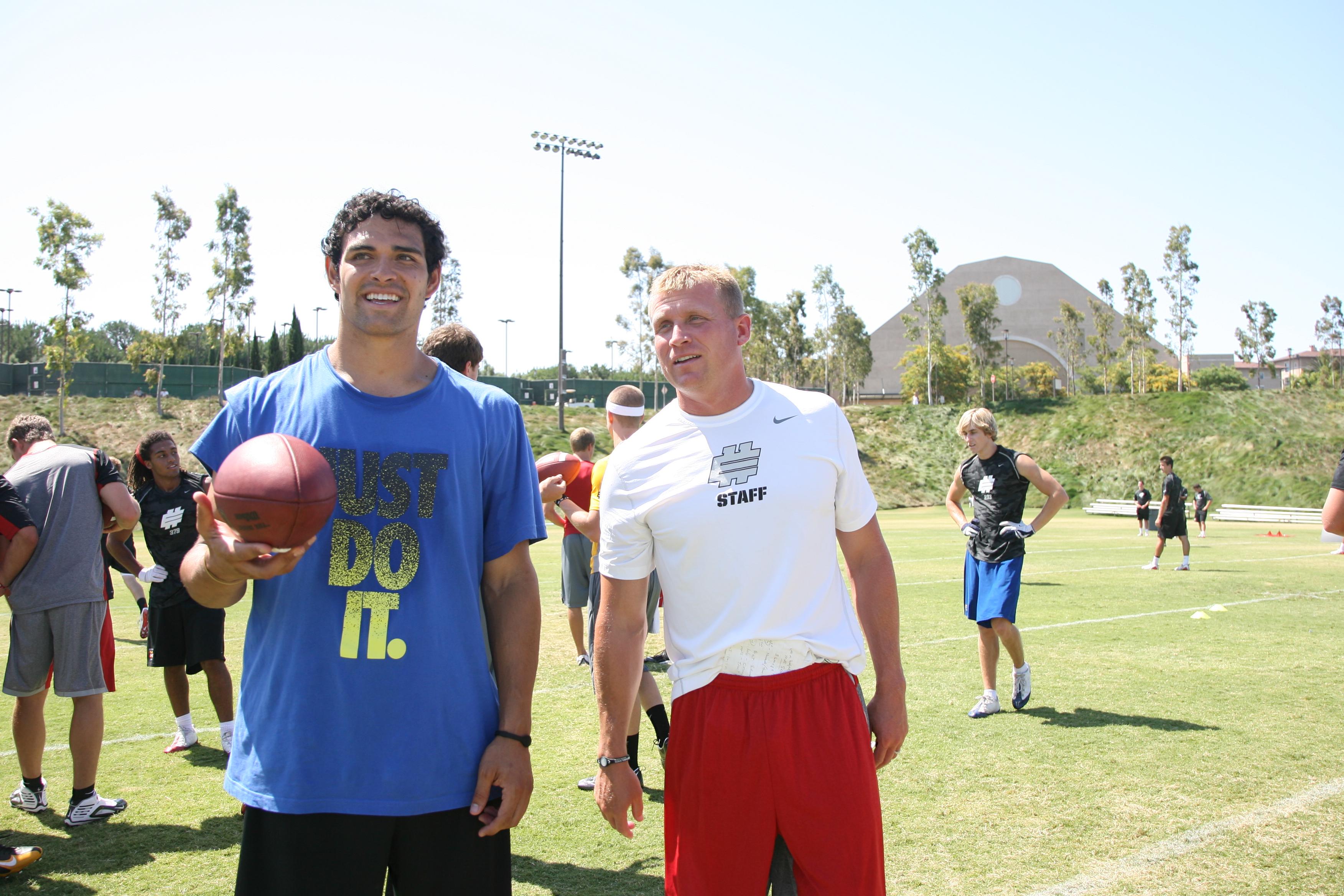 Mark Sanchez and Coach Matt James