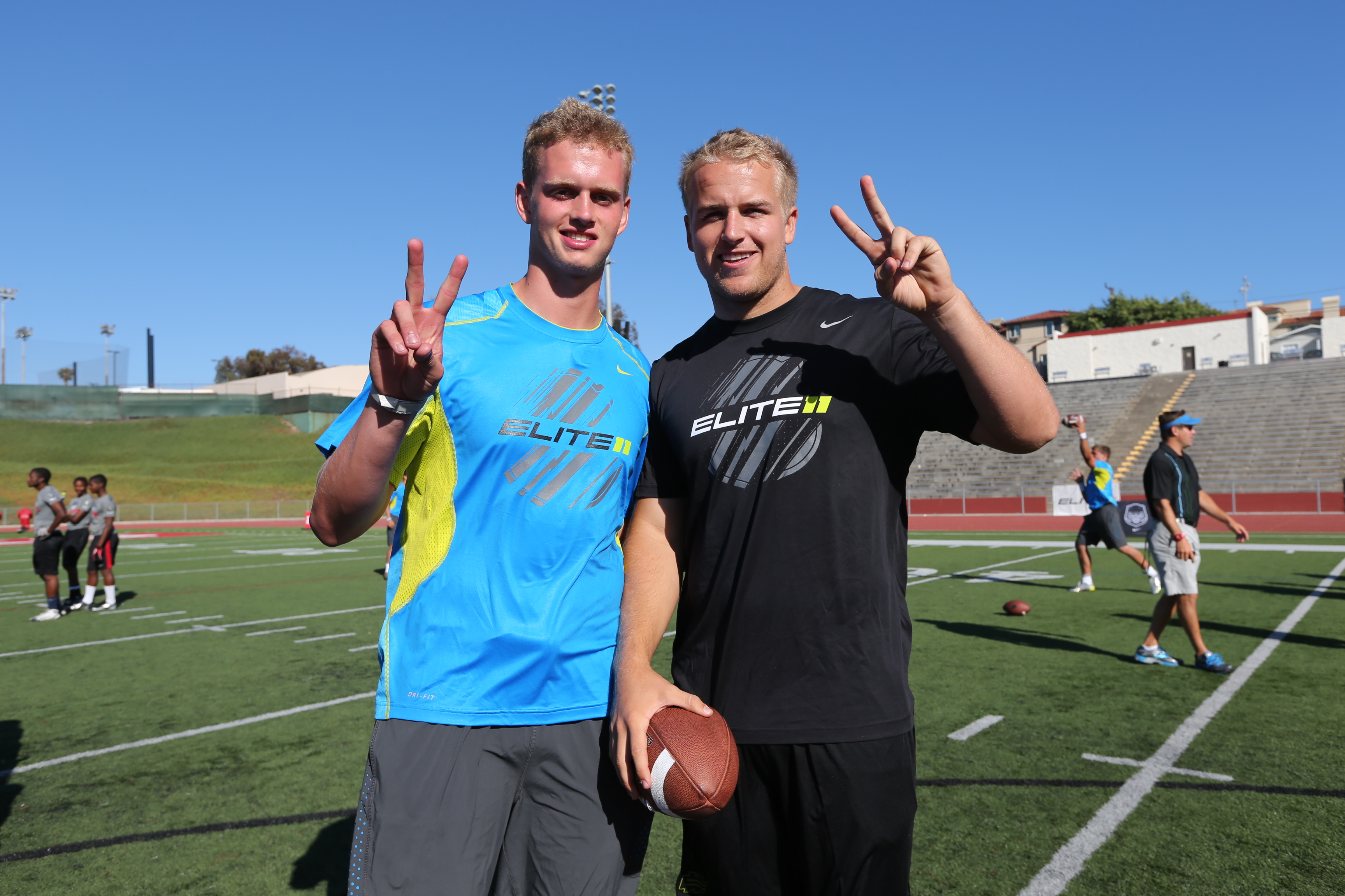 Max Browne and Matt Barkley