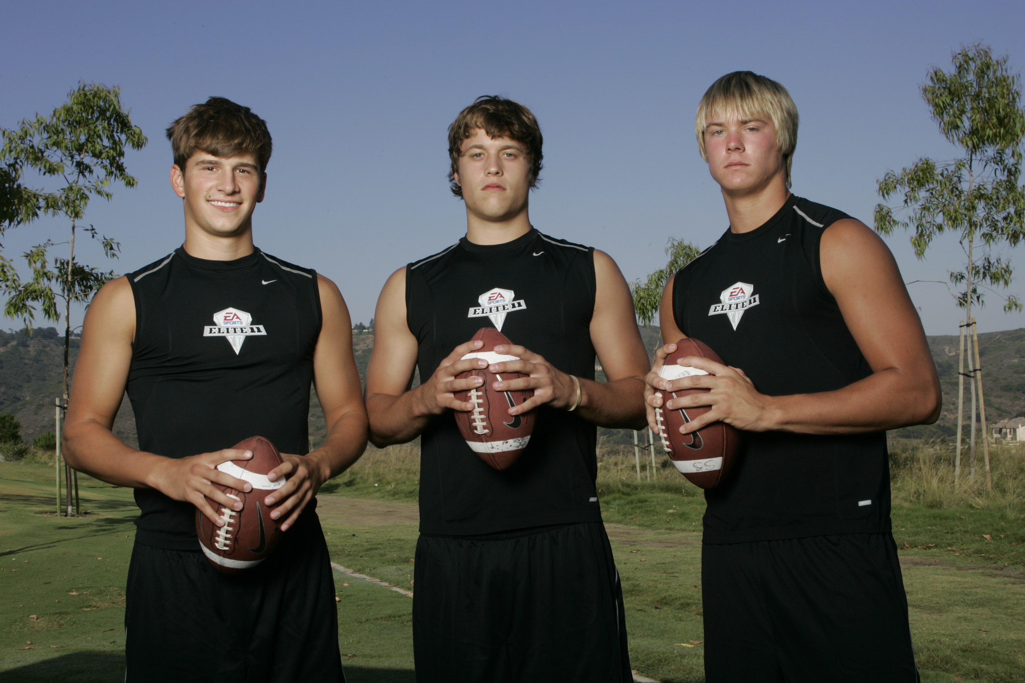 Elite 11 QBs Caudle, Stafford, Snead