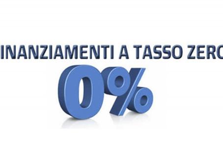 Finanziamenti a tasso zero per uscire fuori dalla crisi