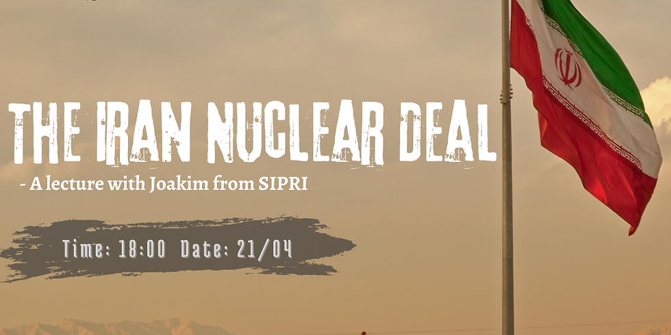 The Iran Nuclear Deal - A lecture with Sipris Deputy director