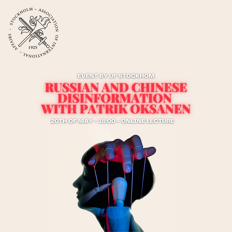 Russian and Chinese disinformation with Patrik Oksanen