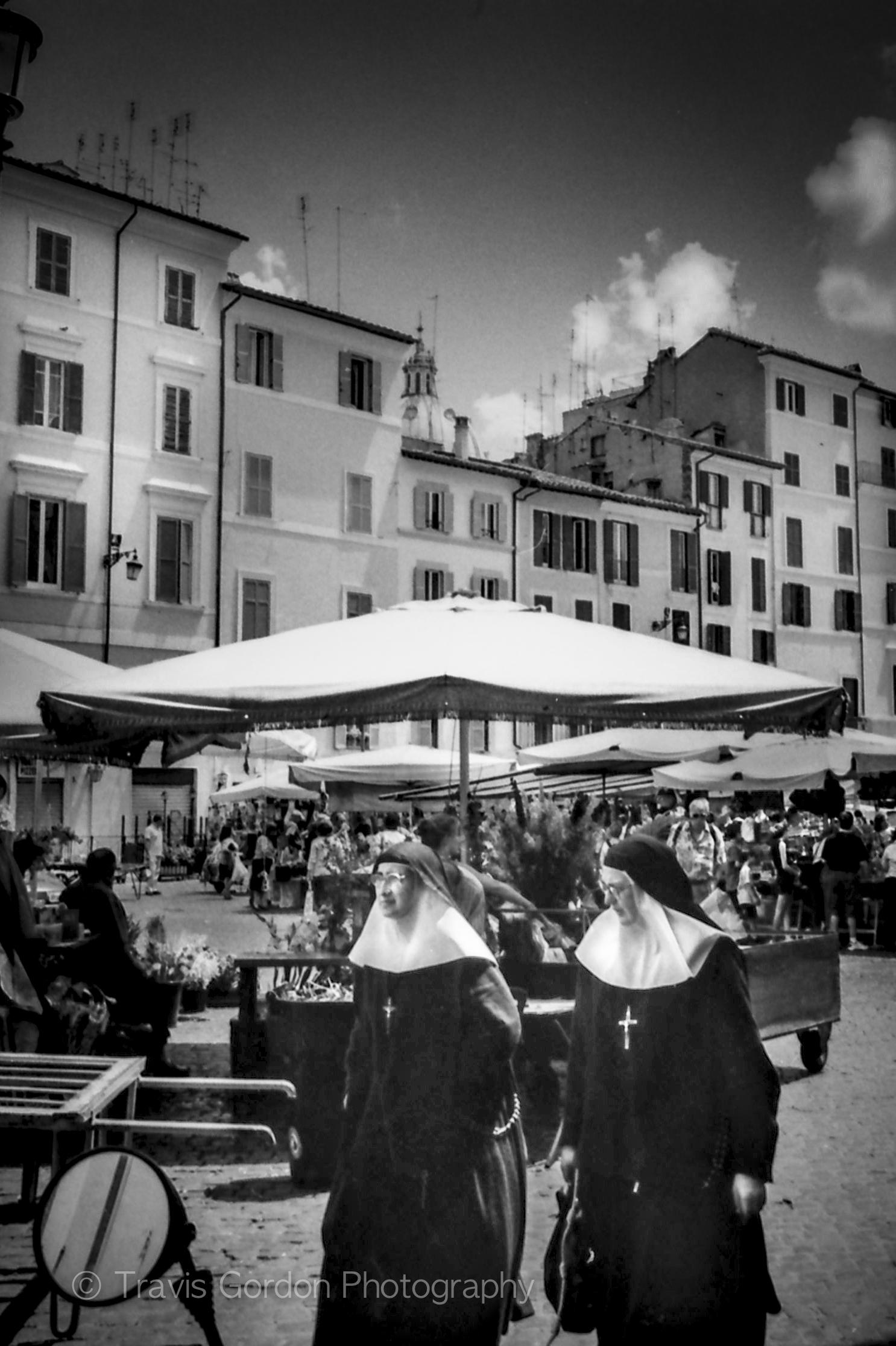 Two Nuns Walk Into a Market...