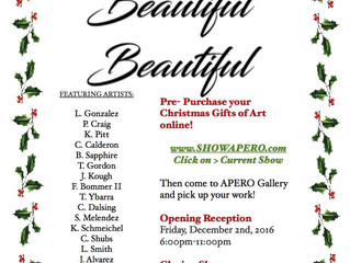 Apero Gallery will be featuring two of my photographs in their latest show beginning December 2nd.