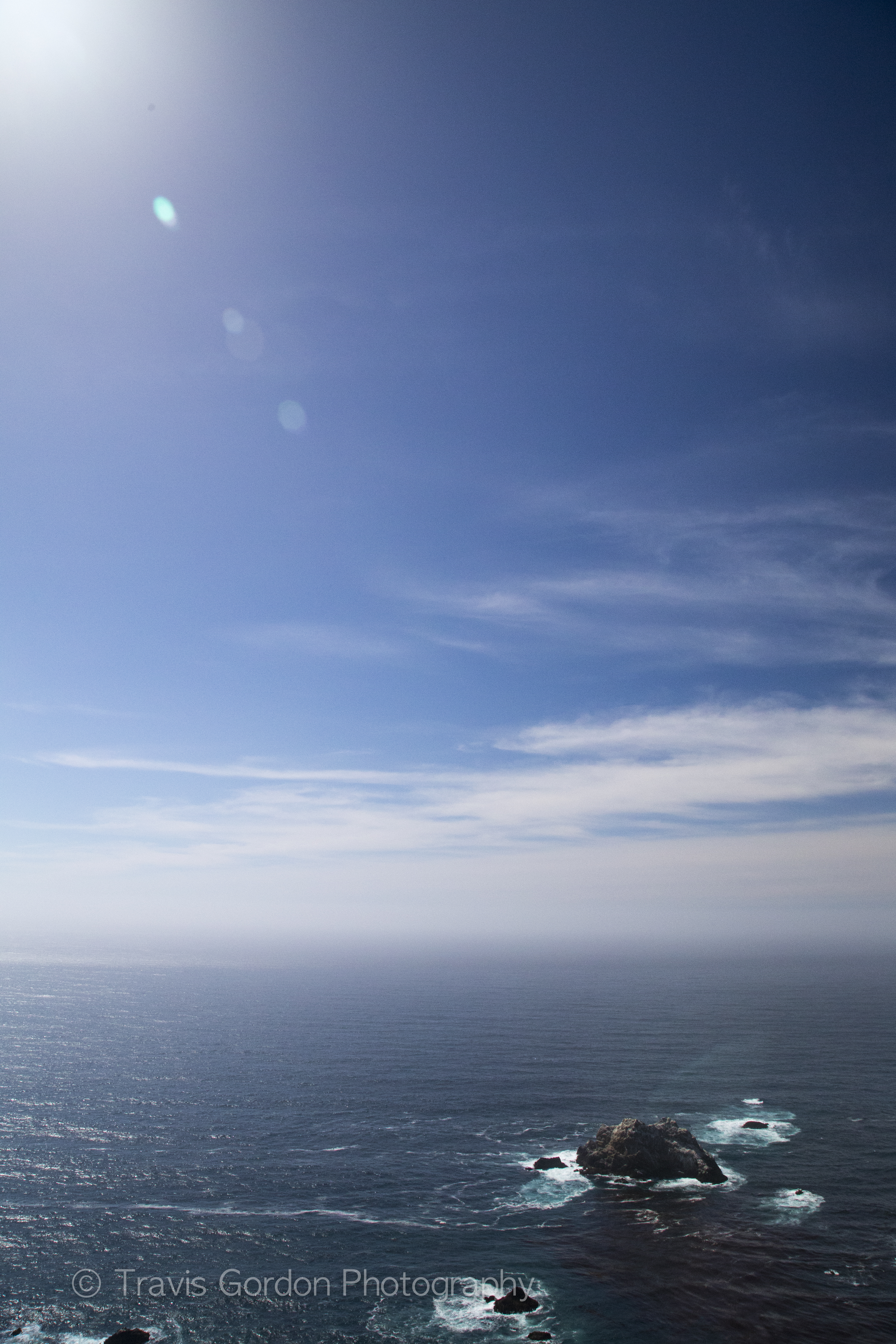 Overlooking the Pacific