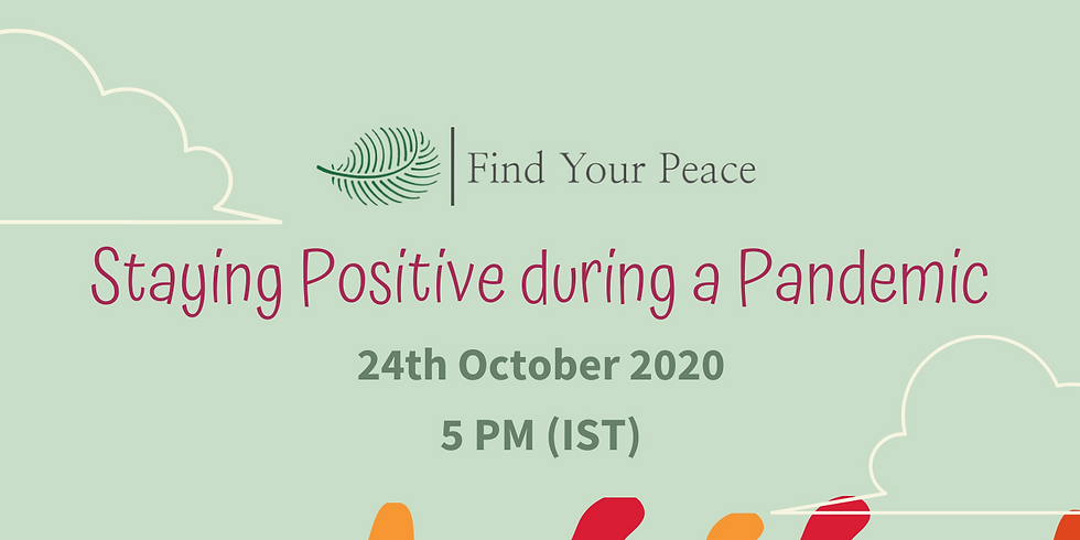 Free International Webinar on Staying Positive in a Pandemic