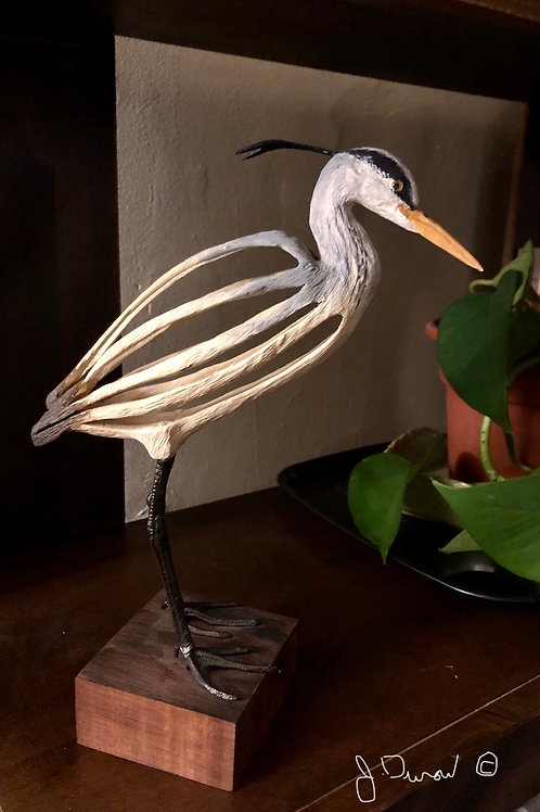 Great Blue Heron Contemporary Sculpture