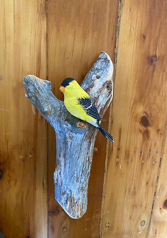 Goldfinch Wall Art Carving