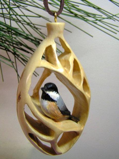 Mosaic Ornament -Chickadee