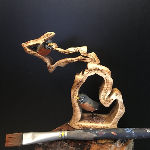 Hand Carved Michigan Sculpture