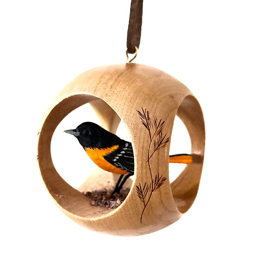 Baltimore Oriole Hand Carved Ornament