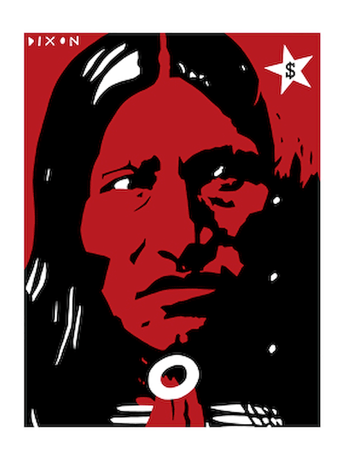 'Kicking Bear' Limited Edition, Signed, Silk Screen Print