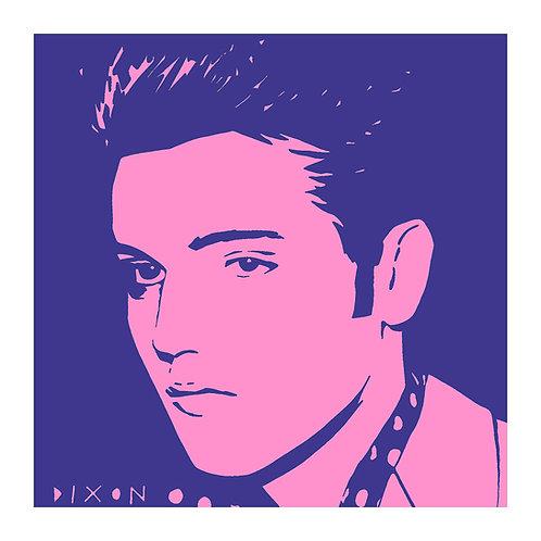 'Elvis' Pink & Purple, Limited Edition Pop Print