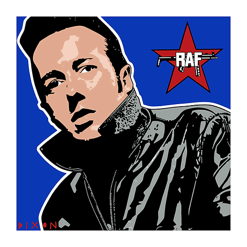 'Joe Strummer RAF' Limited Edition Pop Print