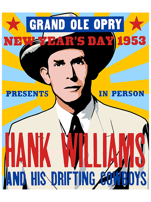 'Hank Williams' Limited Edition Giclee Print