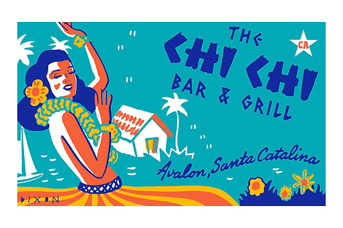 'Chi Chi Bar' Limited Edition Giclee Print