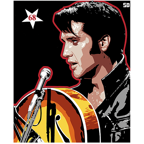 'Elvis 68' Limited Edition Pop Print