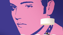 Elvis in Pink and Purple Large Scale Wall Covering, Looks Fabulous!