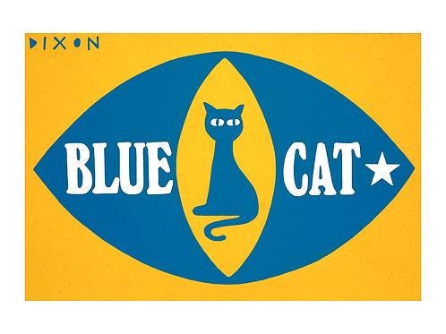 'Blue Cat' Limited Edition Pop Print