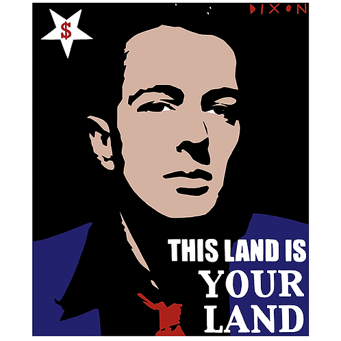 'Joe Strummer This Land Is Your Land' Limited Edition Pop Print