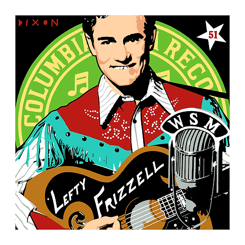 'Lefty Frizzell' Limited Edition Pop Print