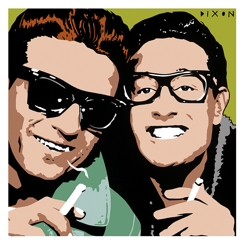 Buddy Holly and Waylon Jennings