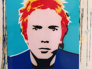 'Johnny Rotten' pictured, work in progress by Simon Dixon.