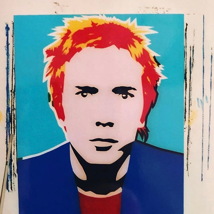 Johnny Rotten Painting by Simon Dixon