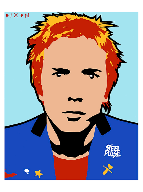 'Johnny Rotten Steel Pulse' Limited Edition Pop Print