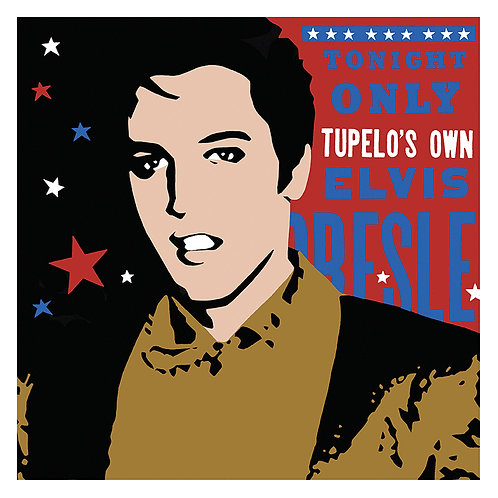 'Elvis Tonight Only' Limited Edition Pop Print