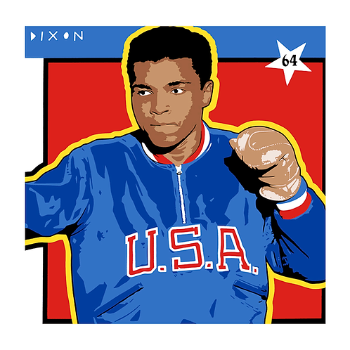 ' Cassius Clay' Limited Edition Pop Print