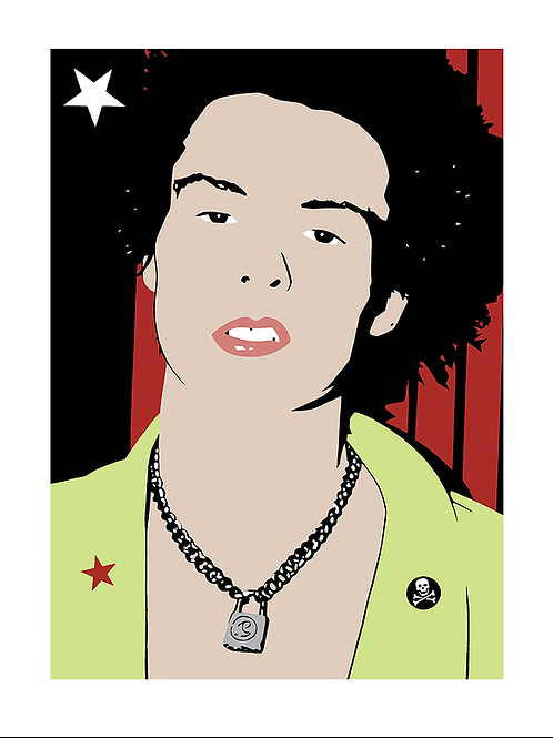 'Sid Vicious' Limited Edition Pop Print