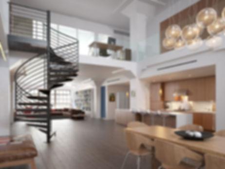 creation amenagement appartement loft contemporain